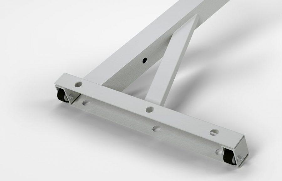 Sitz- oder Steharbeitsplatz KES-B – integrierte Fadenschutzrollen