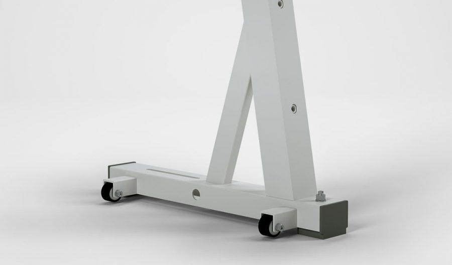 Sitz- oder Steharbeitsplatz KES-B – Fadenschutzrollen, rechts außen