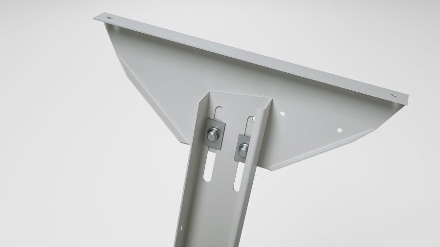 Sitzarbeitsplatz KSV – neigbare Tischplattenauflage