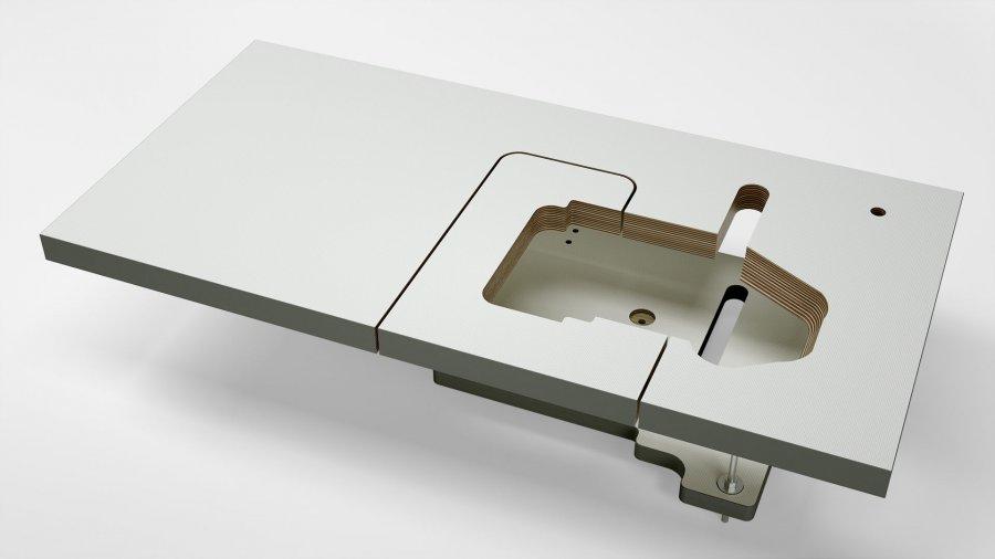 Sondertischplatte, halb- und vollversenkbar von KESSLER