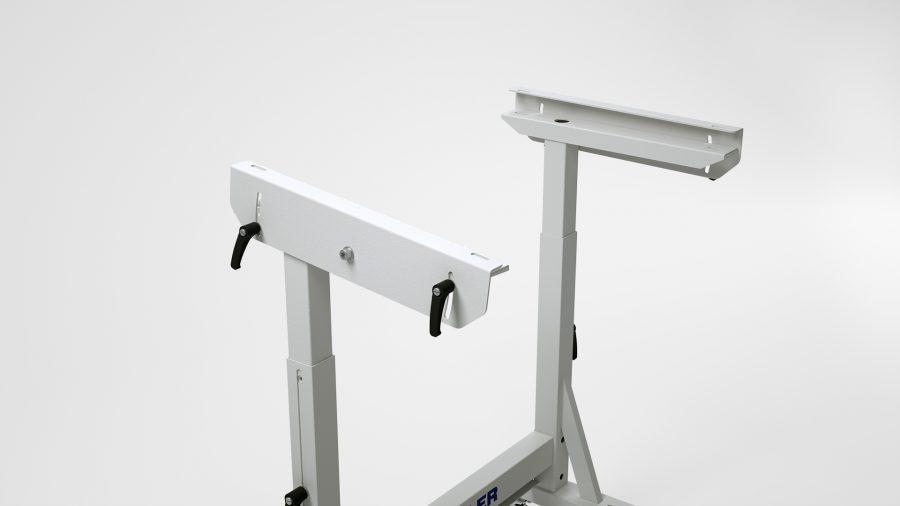 Alternative mit Handkurbel KES-2100 – neigbare Tischplattenauflage