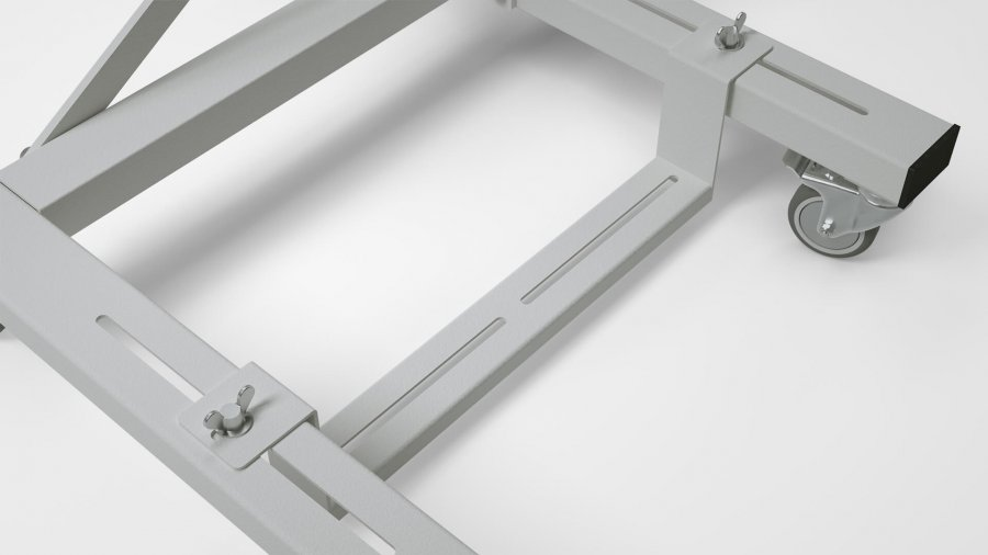 "Alternative mit Handkurbel KES-2100 – Pedalleiste ""RO75"""