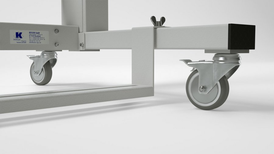 Nähmaschinen-Untergestell KES-2000 – feststellbare Rollen
