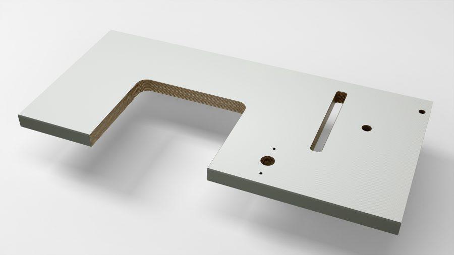 Tischplatte mit U-Aussparung von KESSLER