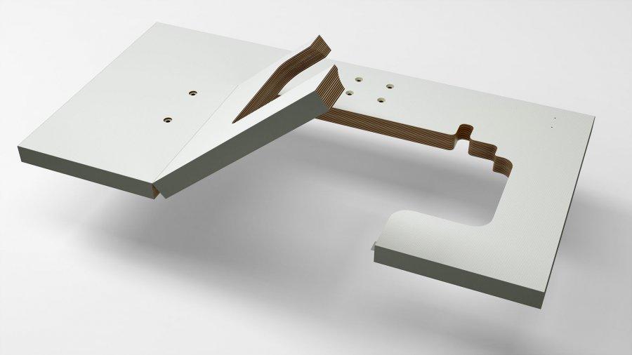 Sondertischplatte, aufklappbar von KESSLER